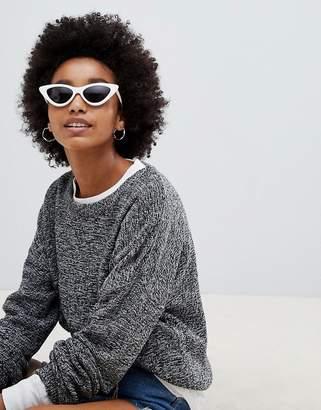 Brave Soul Grunge Round Neck Sweater