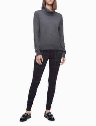 Calvin Klein Burgundy Plaid Stretch Pull-On Pants