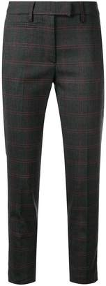 Dondup cropped check trousers