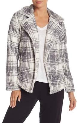 PJ Salvage Chic Plaid Cardigan Jacket