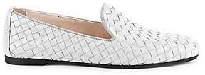 Bottega Veneta Women's Fiandra Woven Leather Loafers