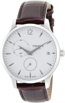 Tissot Men's Tradition T063.639.16.037.00 Leather Swiss Quartz Watch