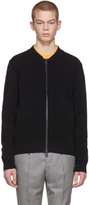 Ami Alexandre Mattiussi Black Knit Zipped Bomber Jacket