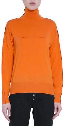 MM6 MAISON MARGIELA Orange Wool Inside Out Turtleneck Sweater