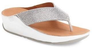 Women's Fitflop(TM) 'Crystall' Crystal Embellished Platform Sandal $109.95 thestylecure.com