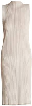 Pleats Please Issey Miyake Sleeveless pleated dress