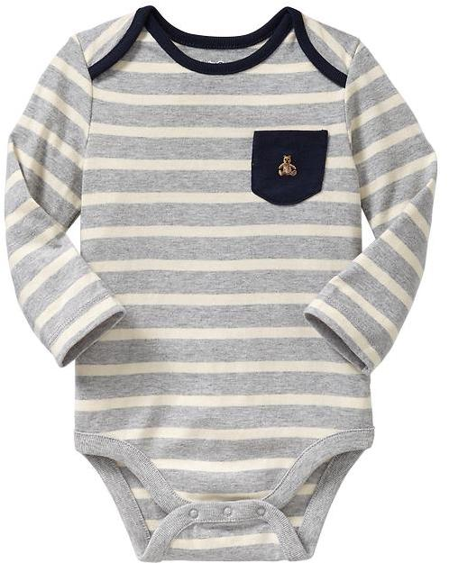 Gap Striped pocket bodysuit