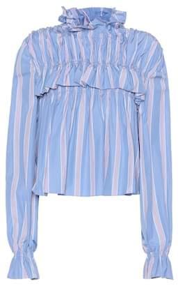 Marni Striped cotton top