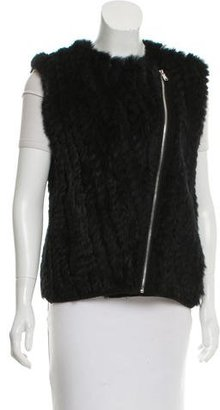 Marc by Marc Jacobs Rabbit Fur Zip-Up Vest