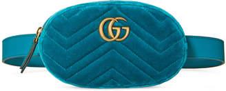 Gucci GG Marmont matelassé velvet belt bag