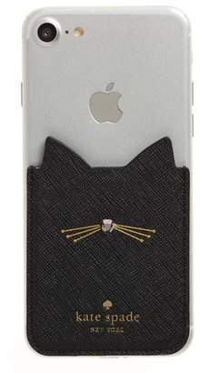Kate Spade cat iPhone 7/8 sticker pocket