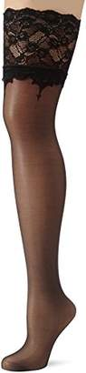 Fiore Women's Sunita/Golden Line Classic Hold-up Stockings, 20 Den,Small (Manufacturer Size: 2)