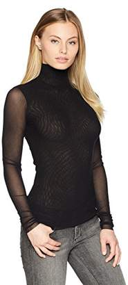 Only Hearts Women's Tulle Long Sleeve Turtleneck