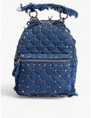 Valentino Mini Rockstud denim backpack