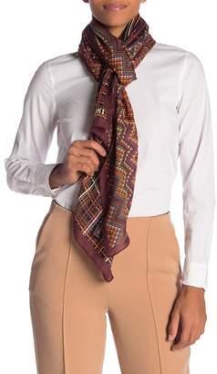 Missoni Stripe Print Silk & Wool Oblong Scarf
