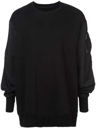 Julius contrast sleeves sweatshirt