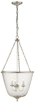 AERIN Pondview Pendant - Silver Leaf/Clear