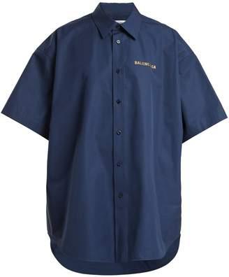 Balenciaga Bin cotton-poplin shirt