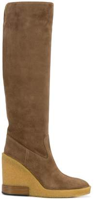 Tod's wedge high boots
