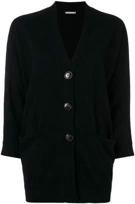 Hemisphere cashmere buttoned cardigan