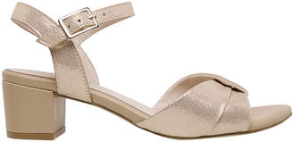 Cleantha Blush Metallic Sandal