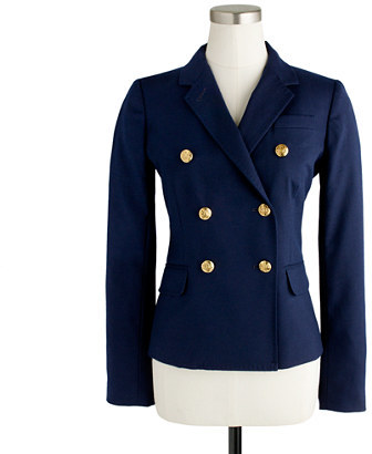 Double-breasted schoolboy blazer