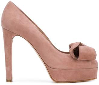 Casadei bow detail platform pumps
