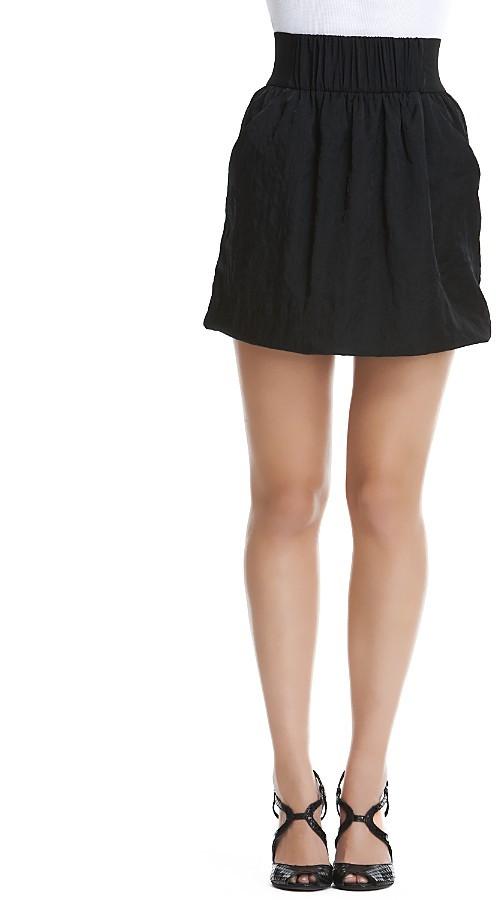 Aqua Shirred Waist Skirt