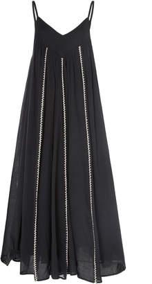 Anaak Violeta Embroidered Cotton-Voile Midi Dress