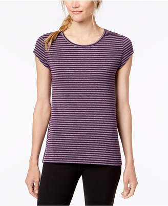 Ideology Striped Cutout-Back T-Shirt