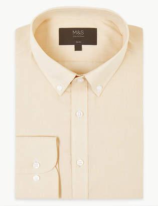 Marks and Spencer Cotton Blend Slim Fit Shirt
