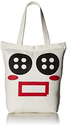 Cute Canvas Button Tote Bag for Women Teen Girls - Has Top Zipper