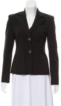 Versace Structured Notch- Lapel Blazer