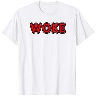 Retro Neon Sign WOKE T-Shirt