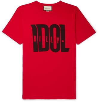 43bcb2744eea2 Gucci Printed Cotton-Jersey T-Shirt