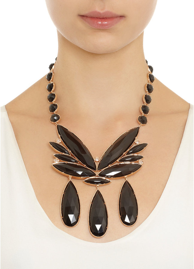 Irene Neuwirth Black Onyx Marquis Pendant Necklace