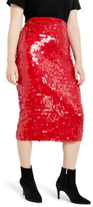 ELOQUII Sequin Pencil Skirt