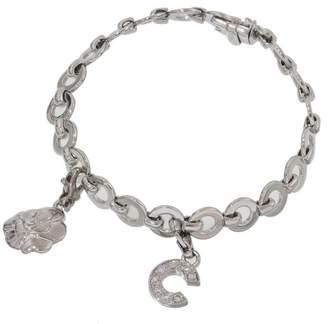 Chanel Coco Logo 18K White Gold Diamond Chain Link Bracelet