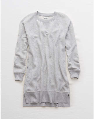 aerie Long Sleeve Fleece Dress