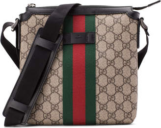 Gucci Messenger GG Supreme Monogram Web Green/Red/Black