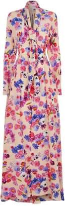 Natasha Zinko Floral Scarf Maxi Dress