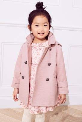 Next Girls Pink Military Style Coat (3mths-6yrs)