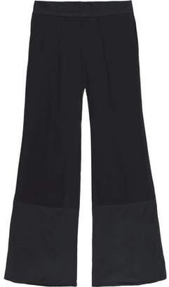 Roberto Cavalli Silk-Paneled Georgette Wide-Leg Pants
