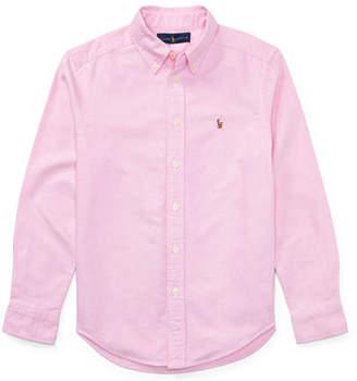 Ralph Lauren Childrenswear Cotton Oxford Sport Shirt, Size S-XL