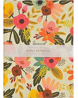 Rifle Paper Co. Journal - Ruled - Medium - Mint Floral