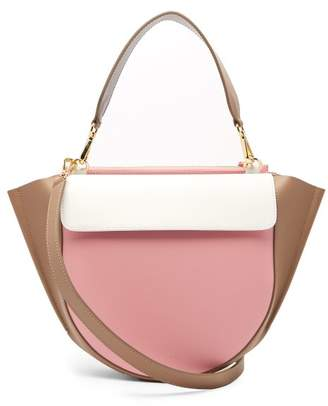 Hortensia Wandler Medium Leather Cross Body Bag - Womens - Pink Multi