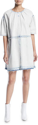 Marc Jacobs Short-Sleeve Denim Shirt Dress