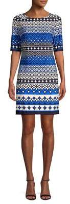 Eliza J Printed Sheath Dress