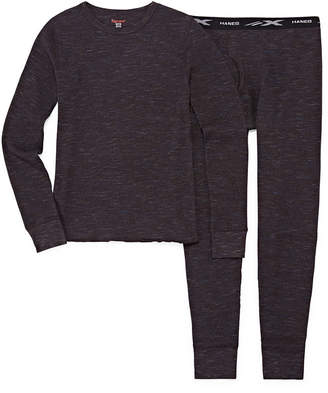 Hanes Boys Thermal Set With Xtemp And Fresh Iq Crew Neck Long Sleeve - Boys