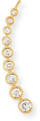 Ef Collection 14K Gold & Diamond Bezel Climber Earring - Right